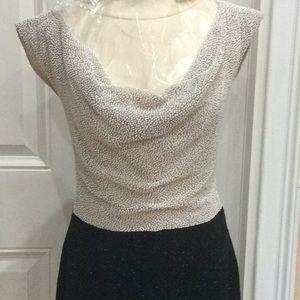 Halston Authentic dress,pearl beaded top silk